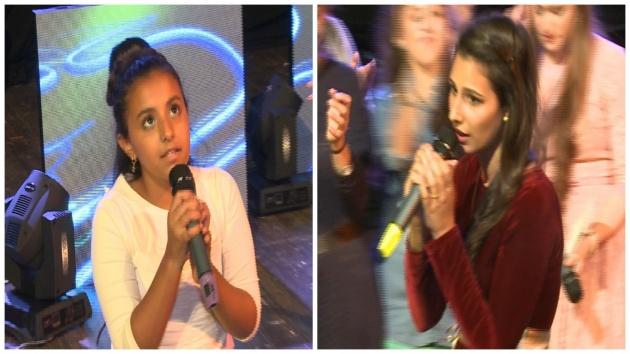 המנצחות: בוגרות-רות שלום (מימין) צעירות-יעל עוזרי (משמאל)
