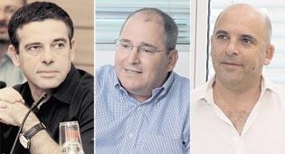 מימין איתי שטרום ניר גלעד ו מיכאל שראל - איתי שטרום מקים קרן גידור עם ניר גלעד