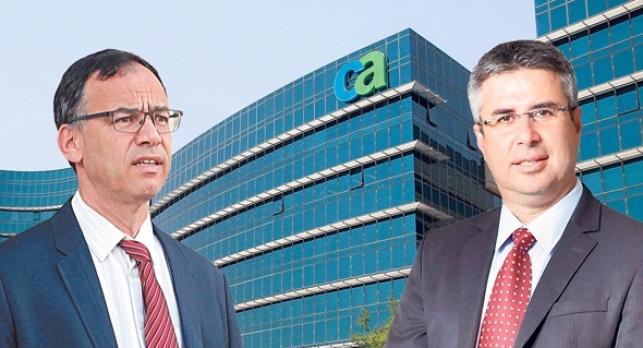 מימין משה אשר ו שי ניצן משרדי CA ישראל בהרצליה - הפרקליטות עצרה חקירת מס נגד ענקית התוכנה CA