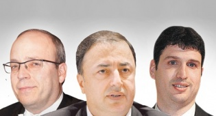 """מימין גרינשפון  לבייב ו נובוגרוצקי - בעלי האג""""ח הוציאו את לבייב ומקורביו מניהול הסדר החוב"""