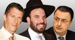 מימין לב לבייב דן גרטלר ובני שטיינמץ - חרדים בעשרת היהלומנים העשירים