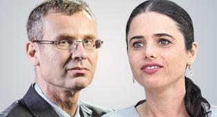 מימין איילת שקד ו יריב לוין - הממשלה צפויה לאשר מחר את הרחבת המינויים הפוליטיים במשרדים