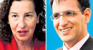 """מימין: מנכ""""ל IDE אבשלום פלבר ו ענת לוין מכלל ביטוח - כיל מוכרת את חלקה ב־IDE לפי שווי של 360 מיליון דולר"""