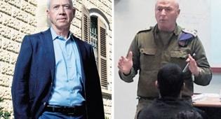 מימין יוסי חדד בעת שירותו הצבאי ו יואב גלנט - כעס במשרד הבינוי על קידום מקורב לגלנט