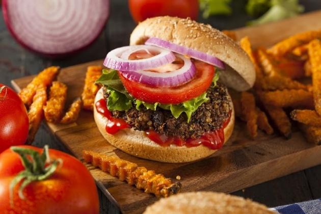 חפשו את הבשר. המבורגר צמחוני