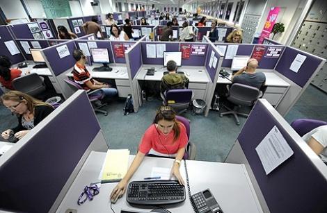 מוקד שירות של סלקום סלולרי סלולר - הכלכלן הראשי: רפורמת הסלולר לא פגעה קשות בעובדי החברות