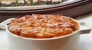 בוגצ'ה: מאפה פילו וקרם פטיסייר עם קונפי תפוז