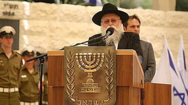 הרב רוזנברג בטקס. צילום: מאיר אלפסי, שטורעם