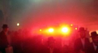 השריפה בבעלזא (צילום: יהודה מילר, חדשות 24)
