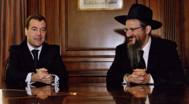 הרב הראשי והנשיא מדוודב, בפגישתם לפני כמה ימים