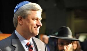 לצד ישראל. ראש ממשלת קנדה (צילום: כיכר השבת)