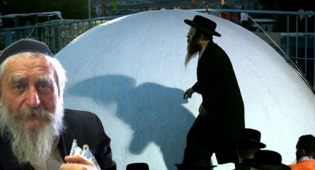 """הרב שטרן על רקע מירון (צילומים: כיכר ופלאש 90) - """"מופתים רבים מתגלגלים מתחת לשולחן""""..."""