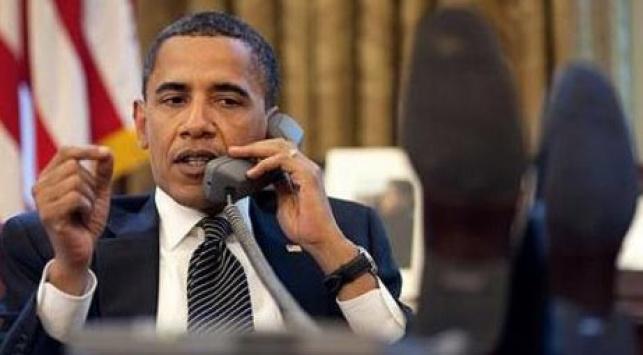 אובמה משוחח עם נתניהו. צילום: פיטר סאוזה