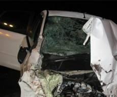 הרכב שנמחץ בתאונה. צילום: דיוויד - HNN.CO.IL