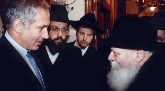 ראש-הממשלה אצל הרבי מליובאוויטש (ארכיון)