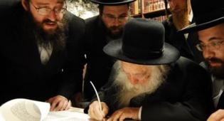 """עם הגר""""ח קניבסקי. צילום: יח""""צ - ילדי ירושלים ישמחו בשמחת התורה"""