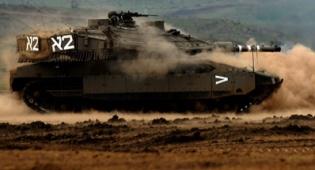 """פיתוח חדשני. טנק צה""""ל צילום: דו""""צ - פיתוח: הטנקים לא יעלו ענני אבק"""