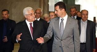 """אסד ואבו מאזן. צילום: פלאש 90 - אסד מגיב: """"לא צופה שיחות עם ישראל בקרוב"""""""