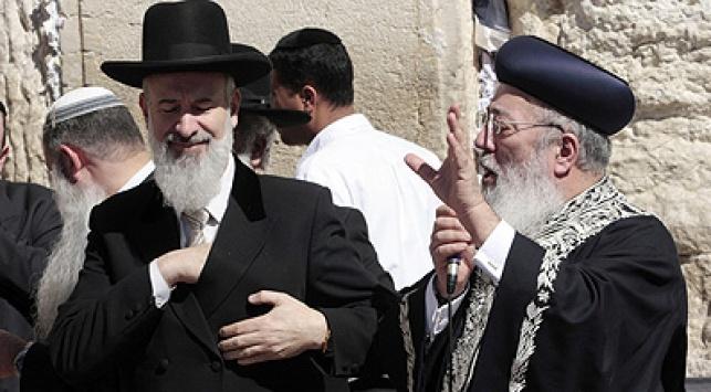 הרבנים עמאר ומצגר. צילום: פלאש 90