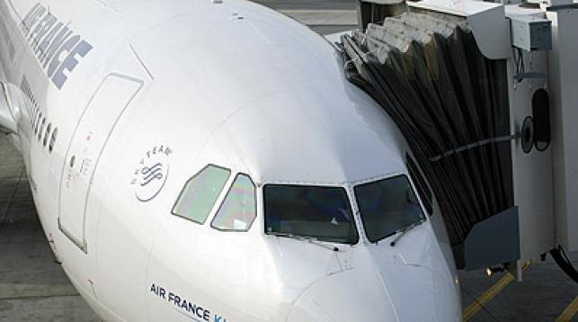 מטוס של חברת אייר פראנס. צילום: פלאש 90
