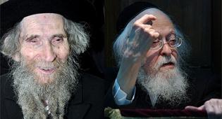 """הגרי""""ש אלישיב והגראי""""ל שטינמן. צילום: פלאש 90"""