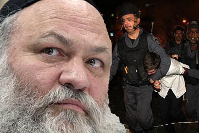 הרב גולדקנופף על רקע מעצר קטין. צילום: פלאש 90