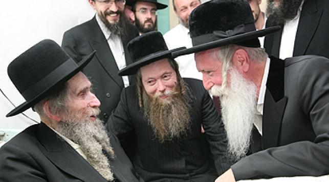 """הרב גרוסמן בבית הגראי""""ל שטינמן"""