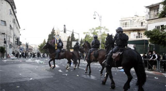 ההפגנה פוזרה בכוח. צילום: פלאש 90