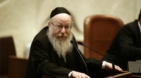 סגן שר הבריאות, יעקב ליצמן. צילום: פלאש 90