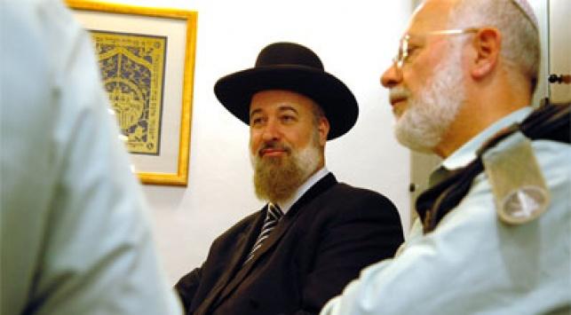 הרב הראשי יונה מצגר. צילום: פלאש 90