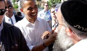 אובמה בשדרות במערכת הבחירות. צילום: פלאש 90