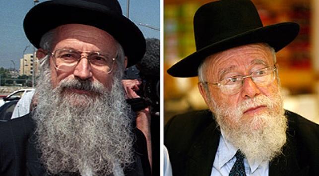 הרבנים מלמד וליאור. צילום: פלאש 90